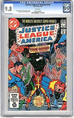 Justice League of America  #192   CGC  9.8   NMMT   white  pages