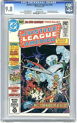 Justice League of America  #193   CGC  9.8   NMMT   White pgs All-Star Squadron