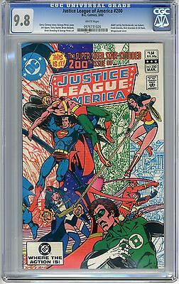 Justice League of America  #200   CGC  9.8   NMMT   white  pages