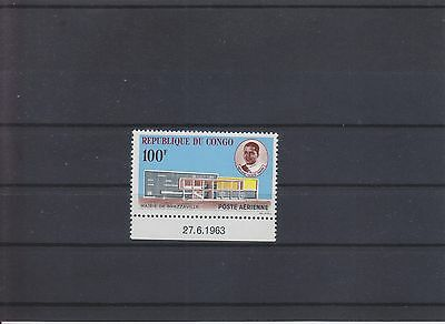 Kongo ( Brazzaville ) congo, Rathaus town hall aus 1963 MNH, 2 scans