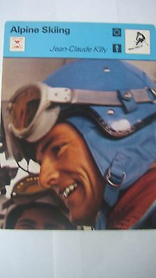 Rare Rencontre Sportscaster Card Alpine Skiing Jean Claude Killy