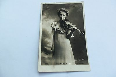 MISS MARIE HALL POSTCARD PLAYING VIOLIN - 1920s