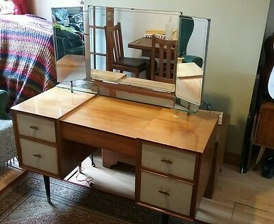Retro Wrighton Dressing Table with leather fronted drawers