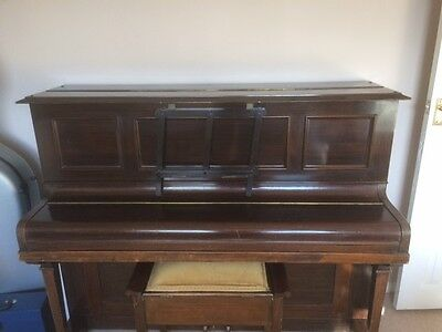 Piano upright and stool - John Broadwood & Sons
