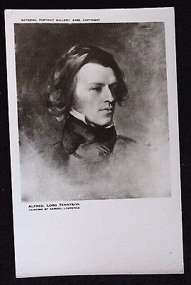 Nice Vintage Postcard Alfred Lord Tennyson Painting By Samuel Laurence