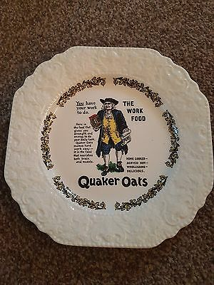 Lord Nelson Pottery Quaker Oats collectible plate.  Great condition.