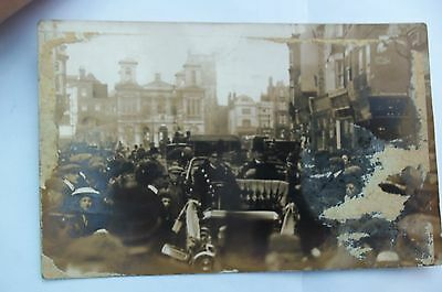 KINGSTON UPON THAMES RP POSTCARD  - EARLY 1900s WITH CARS