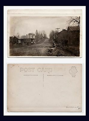 West Virginia Buckhannon Real Photo Street View Cyko Back Circa 1910