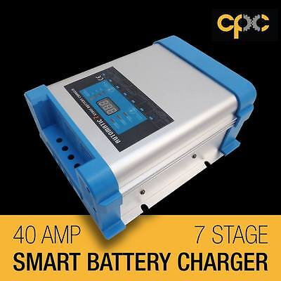 7 Stage 40amp Automatic Caravan Battery Charger 50-300Ah Jayco Car boat Auto AG