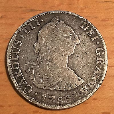 1788 MEXICO 4 REAL CHARLES III Mo FM SILVER SPAIN RARE