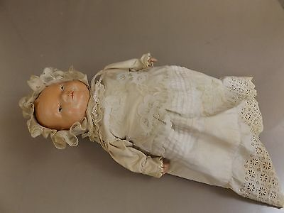 Antique American Doll Co. Honey Child Bye-Lo Type Composition Cloth Frog Body
