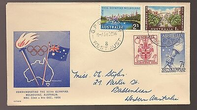 Scarce 1956 Australia OLYMPICS Melbourne GUTHRIE FDC - Addressed but Unsealed