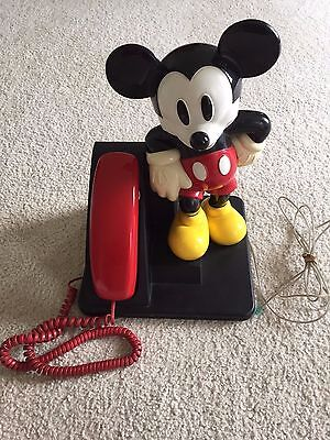 Mickey Mouse AT&T Large Standing Desk Telephone - Tested