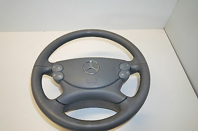 Mercedes Clk W209 Steering Wheel & Air Bag Multifunction Grey Oem