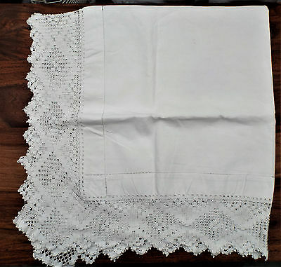 Selection Of Old Lace Edged Linens