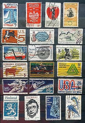 USA United States GREAT LOT of 20 used Commemoratives 1966-1967   Lot #96