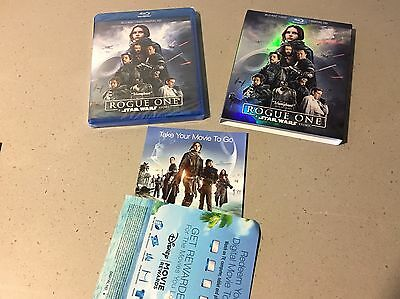 Star Wars Rogue One 2017 HD Digital Code ONLY