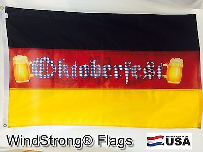 3x5 FT Deluxe Sewn Stripes Oktoberfest Bavaria German Germany Outdoor or Indoor