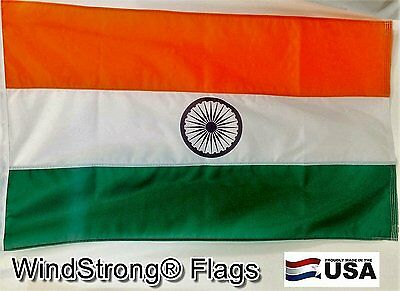 3x5 FT Deluxe Double Sided India Indian Country Flag Sewn Stripes Official Nylon