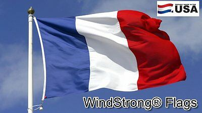 2x3 FT France French WindStrong® Flag Sewn Stripes Deluxe Outdoor SolarMax Flag