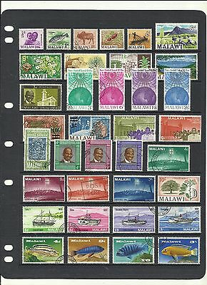 Malawi .340 Different. Stamp Collection.
