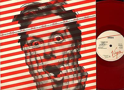 "SKIDS wide open (red vinyl) 12"" PS EX/EX VS 23212 alternative rock punk 1978"
