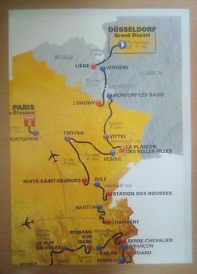 Tour de France 2017 wall chart, prints, map and book. Brand new.