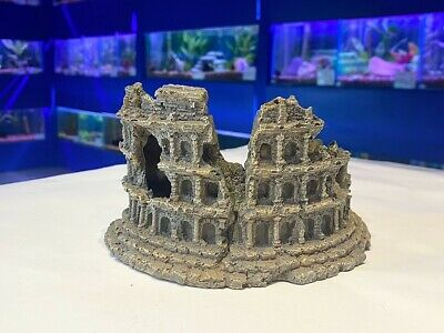 Medium Demolished Amphitheatre Ruins Aquarium Fish Tank Ornament 769