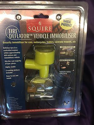 Trailer CAR LOCK CLAMP  Immobilizer ANTI THEFT AUTO DEFLATES TYRES OVER 18MPH