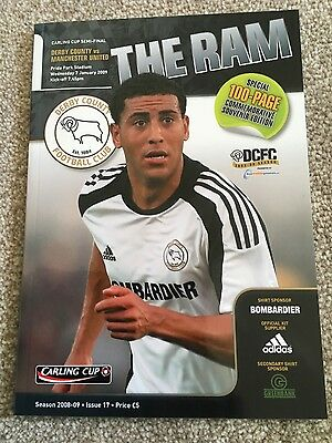 Derby County v Manchester United (League Cup Semi-Final) 2008-2009