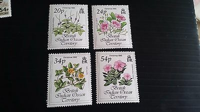 British Indian Ocean Territory 1993 Sg 141-144 Christmas.flowers.  Mnh