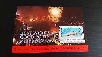 British Indian Ocean Territory 1997 Sg Ms194 Return Of Hong Kong To China  Used