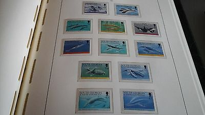 South Georgia 1994 Sg 231-242 Whales And Dolphins  Mnh