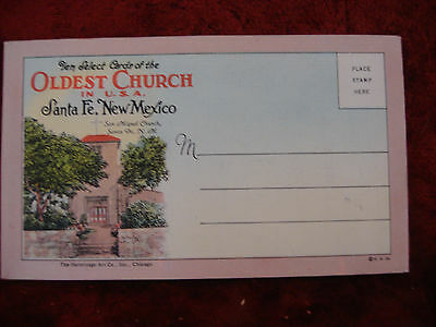 Ten Postcards of Oldest Church in USA Santa Fe New Mexico  Ex. Cond. REDUCED