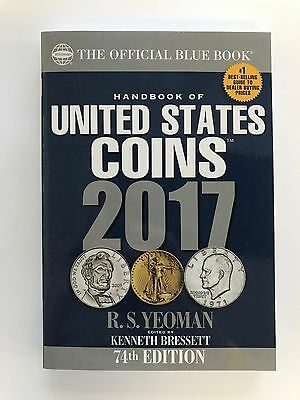 New 2017 Handbook of United States Coins: The Official Blue Book, Paperback Ed