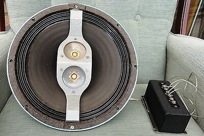 "Lorenz LP 312 12"" Vintage Woofer With Tweeters & Crossover. Believed late 1950s."