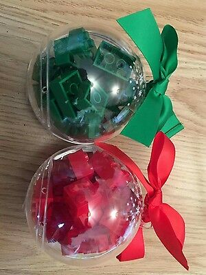 lego baubles red and green