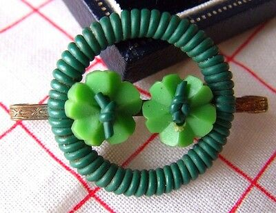 Vintage Jewellery Retro Ww11 40S Woven Plastic Wire Flower Buttons Brooch  Rare