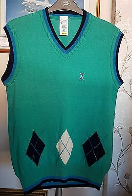 Vintage St Michael (M&S) Mens Lambswool Golf/Tennis V Neck Tank Top (Small)