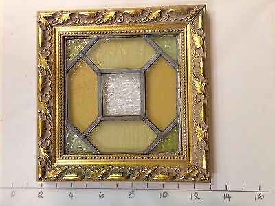"Antique Victorian Stained Glass Window. 8"" x 8"". 10 to sell."