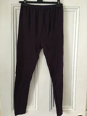 Purple/Aubergine Maternity Leggings
