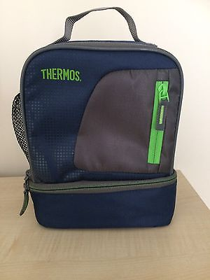 Thermos blue/green Lunch/Picnic Food bag