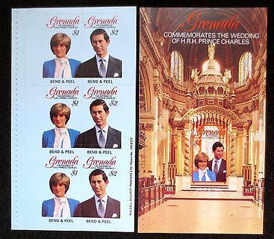 Grenada - 1981 - Royal Wedding - SG 1136/1137 x 2 & 1138 - Booklet Panes
