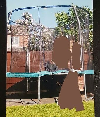 """10"""" Trampoline with enclosure and ladder"""
