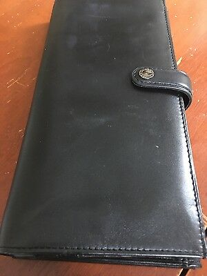 Filofax  Trifold Travel Wallet in Black leather