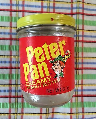 Rare Vintage 6 Oz Peter Pan Peanut Butter Jar