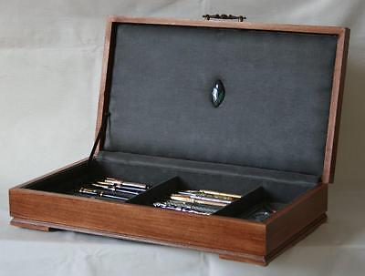 Fountain Pen Chest, #563, Vintage, Hand-Crafted, Holds 24 Pens, Solid Wood, Usa