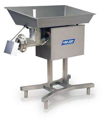 Commercial #32 Butcher Meat Grinder  5 Hp 3840 Lbs Pr  220 V. 3 Phase  S/s Stand