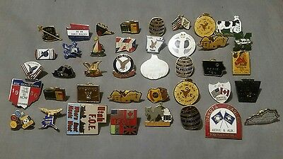 Lot of 64 Fraternal Order of Eagles F O E pins