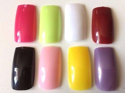 100 Strong Professional Whole Full False Nails Choice Of Colors Uk Seller